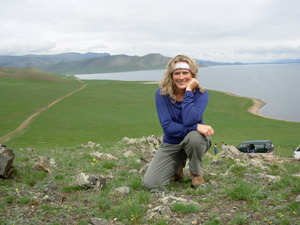 Wendy in Mongolia.