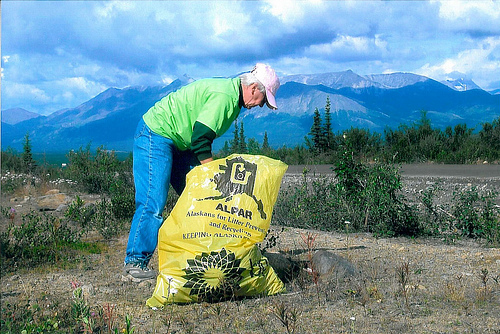 Litter pick-up in AK