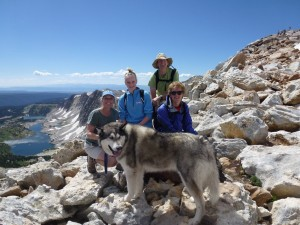 My family, with our malamute Chilkoot, atop Wyoming's Medicine Bow Peak earlier this month