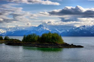 Lynn Canal, a natural fjord that is part of the Inside Passage route between Juneau and Skagway.