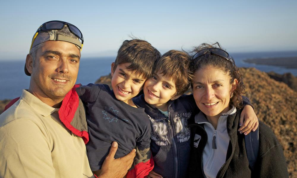 Guide Roberto Plaza and his family. Photo © Roberto Plaza/Natural Habitat Adventures
