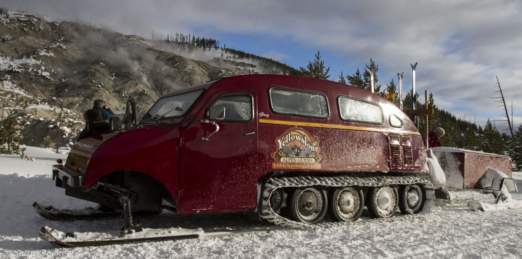 Bombardier snow coach, Yellowstone National Park