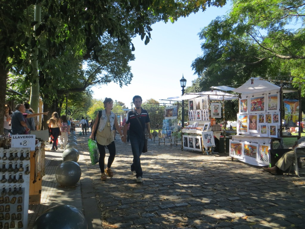 Picture of the Recoleta Market in Buenos Aires