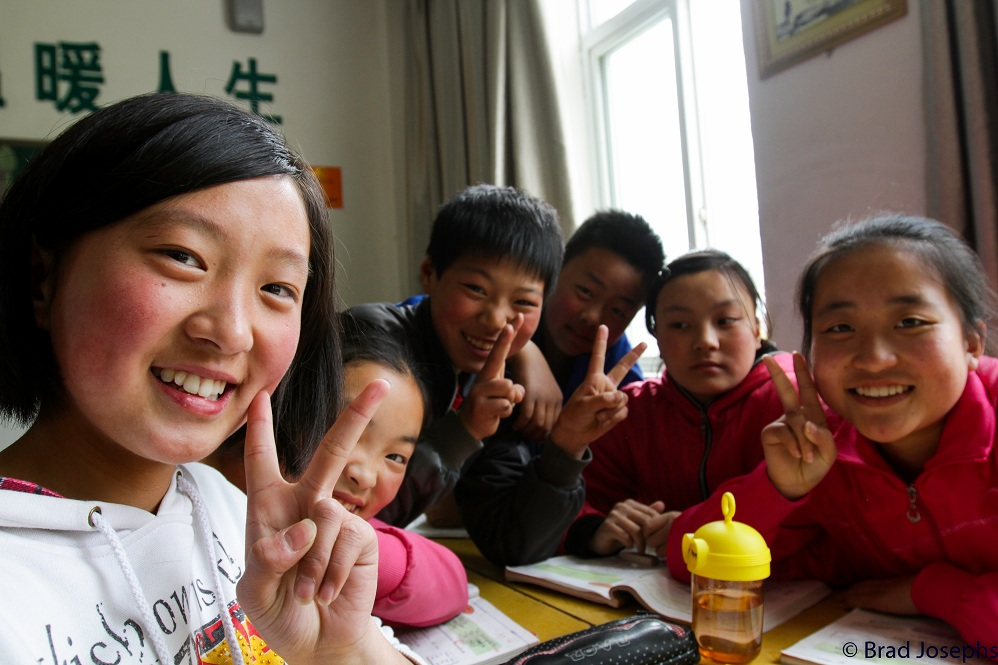 School visit to local Chinese elementary school, China