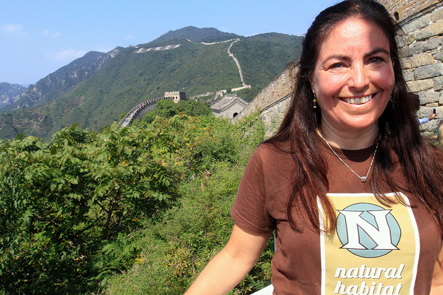Wendy Klausner on the Great Wall of China