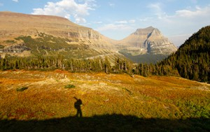 Glacier National Park hiker