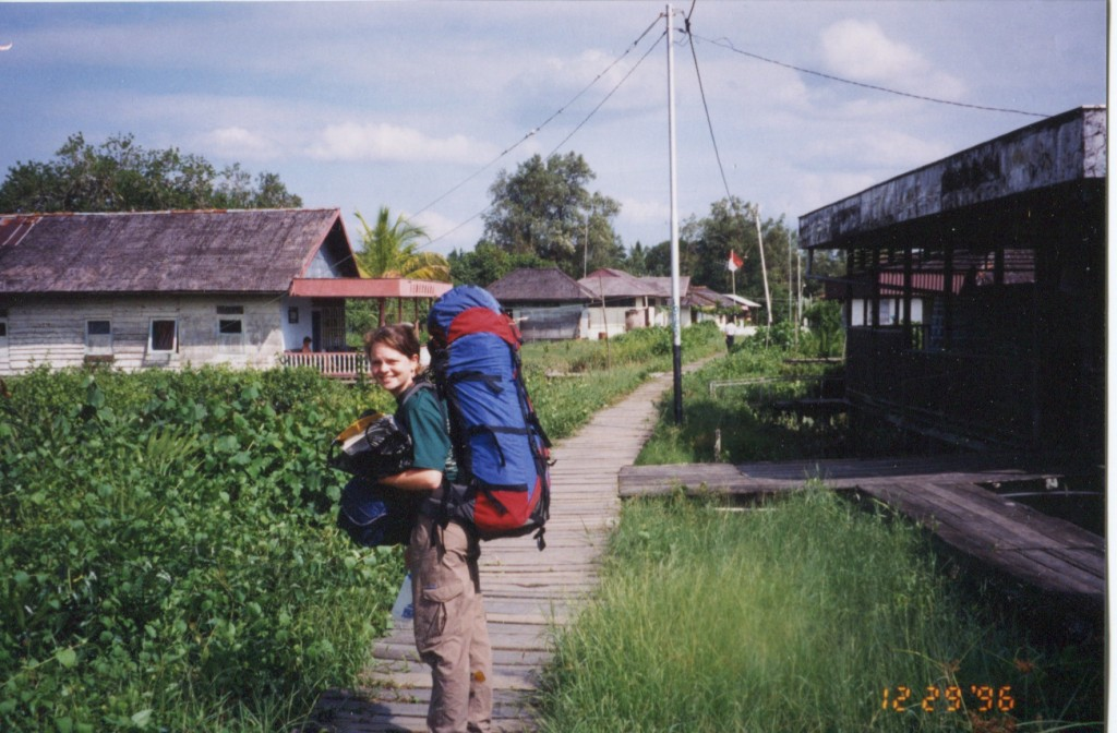 Cassie starting her adventure in Borneo in 1996.
