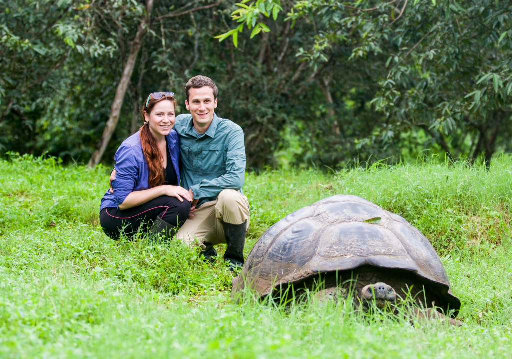 Rachel and her husband Stephen, in the Galapagos. © WWF-US/Rachel Kramer