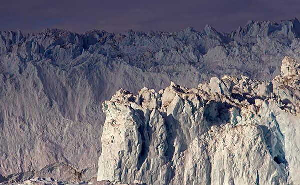 Greenland glacier close-up
