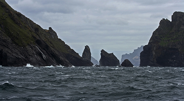 While the North Atlantic knows how to pack a punch, its sea stacks are hauntingly beautiful. ©Candice Gaukel Andrews