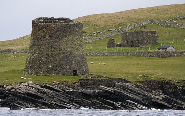 The Iron Age Broch of Mousa in Shetland, Scotland, is the tallest that remains standing in the world and among the best-preserved prehistoric buildings in Europe. It was constructed in about 100 B.C. ©Candice Gaukel Andrews