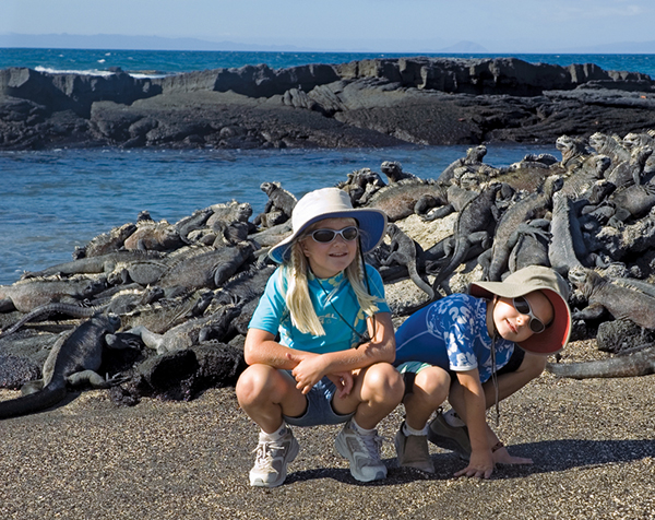 Packing the appropriate clothing for your trip—such as sun hats—can keep you from turning into a weather wuss in front of your fellow travelers. ©Emily Supernavage