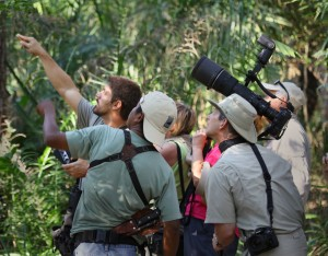Pointing out wildlife on a trip to Brazil. (c) Eric Rock