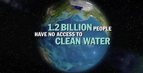 "Water.org states that around the world, women and children spend 140 million hours per day collecting water. ©From the video ""Water Facts"" by Hound Studio"