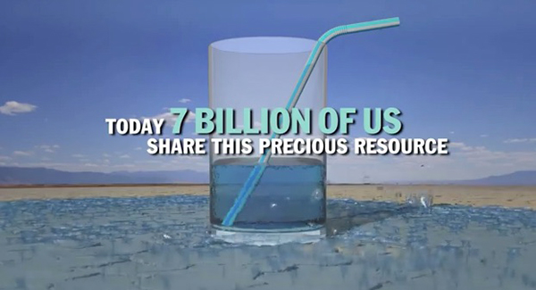 "In January 2015, the World Economic Forum announced that the water crisis is the no. 1 global risk based on impact to society (as a measure of devastation) and the no. 8 global risk based on likelihood to occur within 10 years. ©From the video ""Water Facts"" by Hound Studio"