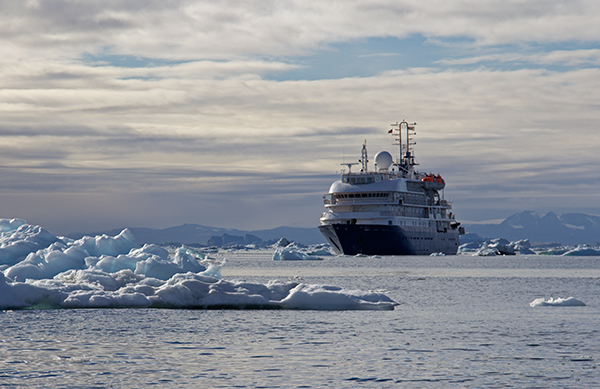 "The ""Sea Spirit"" was a ship I was familiar with—she had taken me to Greenland, too. ©Candice Gaukel Andrews"