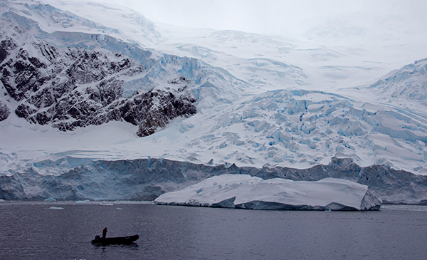 If the Antarctic ice sheet melted completely, sea levels could rise 200 feet. While that could take thousands of years, the world's great ice sheets are currently thawing at an unprecedented rate. ©Candice Gaukel Andrews