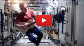 "Video: David Bowie's ""Space Oddity"" in Space"