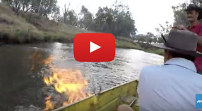 Video: River Set on Fire in an Area with Fracking