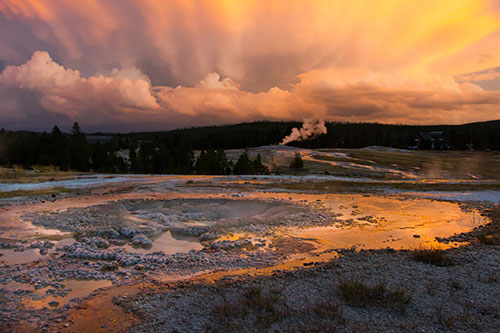 Will we eventually have to wall off Yellowstone to protect it and us? ©Sean Beckett