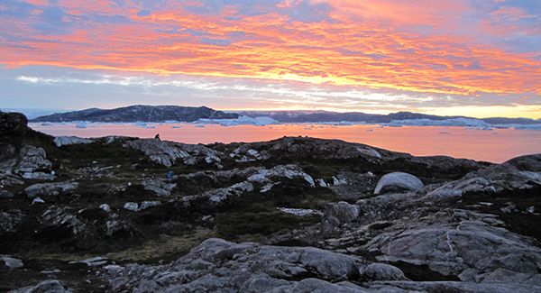Base Camp Greenland Sunset