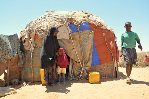 The Somaliland drought of 2011/2012 left this family, a mother with four children, virtually destitute. ©Oxfam East Africa