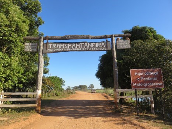 Entrance to the Pantanal Wetlands