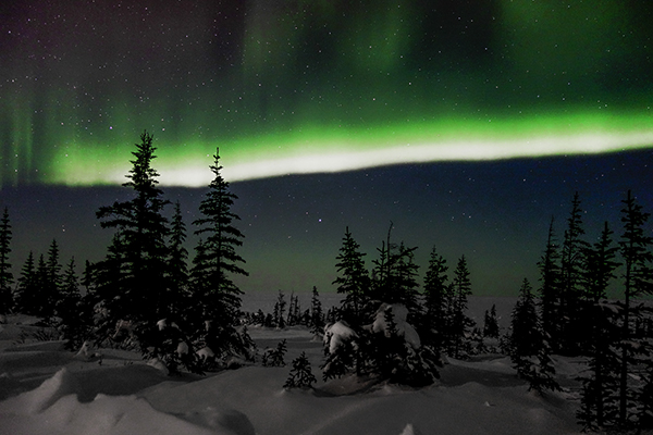 The Northern Lights as seen from Churchill, Manitoba, Canada