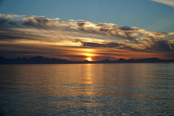 Sunset over the waters of the Baja Peninsula