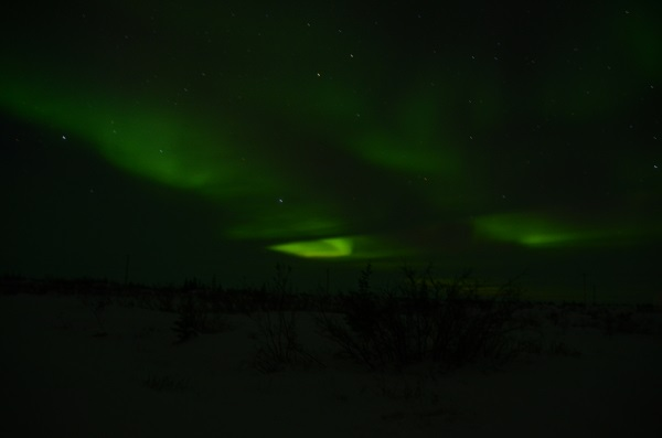 Northern lights in Thompson