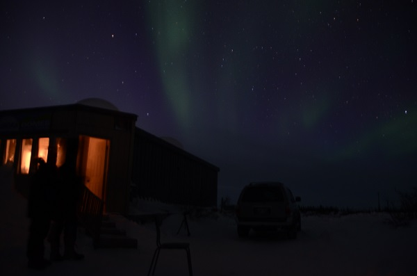 Northern lights display in Thompson, Canada