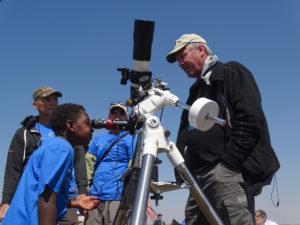 Eclipsing with hydrogen alpha telescopes.