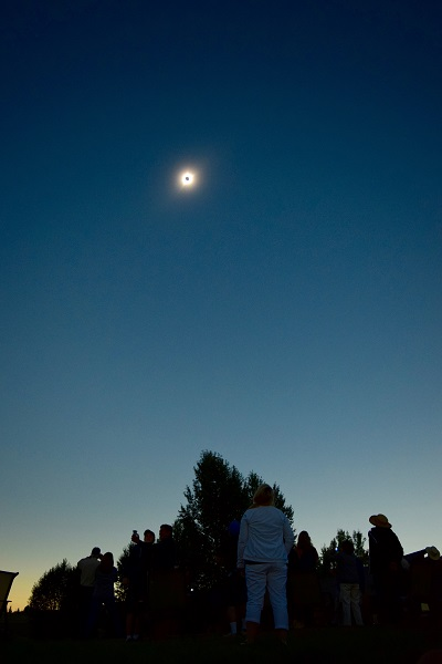 2017 eclipse, Yellowstone, totality, total solar eclipse