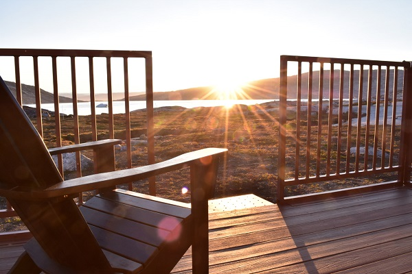A peaceful sunset from my tabin's private veranda, looking out on the Greenland ice sheet and pristine Arctic wilderness…and hoping to one day return.