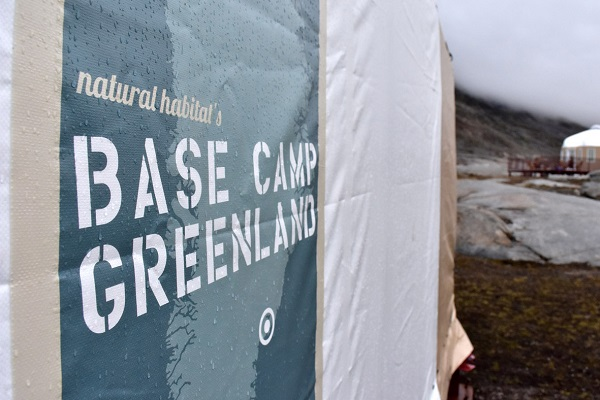 From bluebird skies to rain, rain, go away! A heavy cloud bank moves in over camp after an exciting night of howling winds. Quite the introduction to quick-moving Arctic weather!