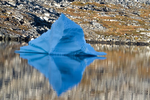 Blue iceberg in East Greenland