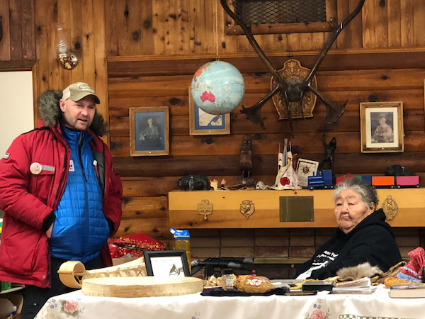 Nat Hab guide Kurt Johnson and Caroline presiding over another amazing Dene cultural talk.