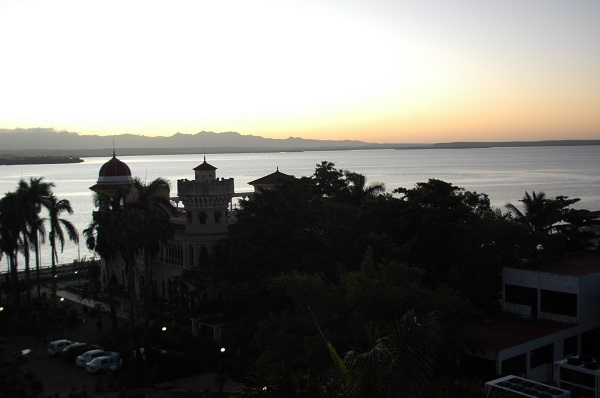 Early morning view from our hotel in Cienfuegos.