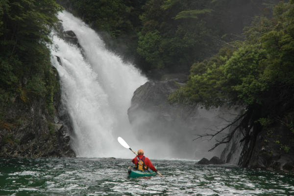 Fred kayakign in Patagonia