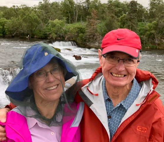 Couple at Brooks Falls, Katmai National Park, Alaska