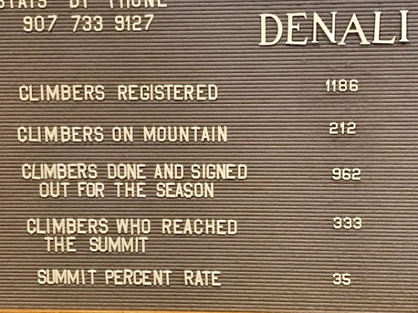 Denali peak sign 2017