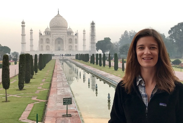 Amanda Jamieson at the Taj Mahal