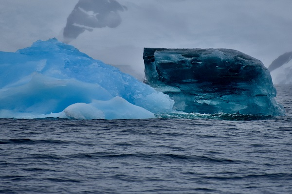 Blue ice in Antarctica
