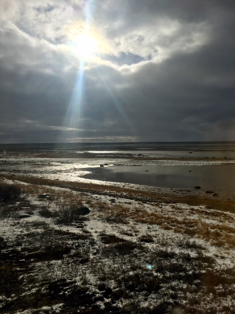 Sun shining in Churchill