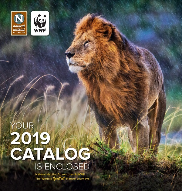Envelope for the World Wildlife Fund 2019 nature travel catalog