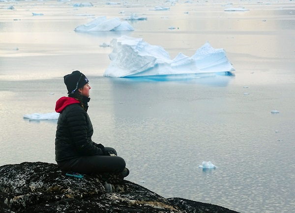 Meditating in East Greenland