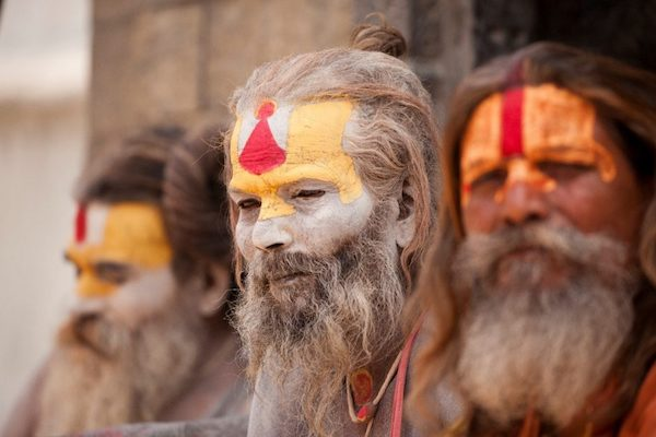 Sacred men in India.