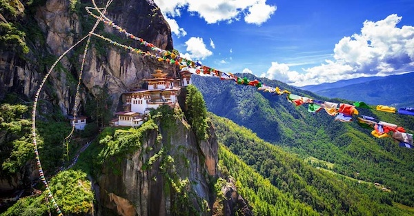 Tiger's Nest Monastery in Bhutan.