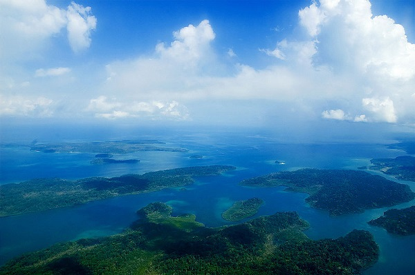 Aerial of the Andaman Islands.