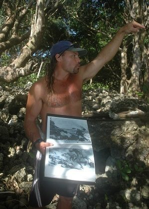 Man speaking about conservation in Palau.
